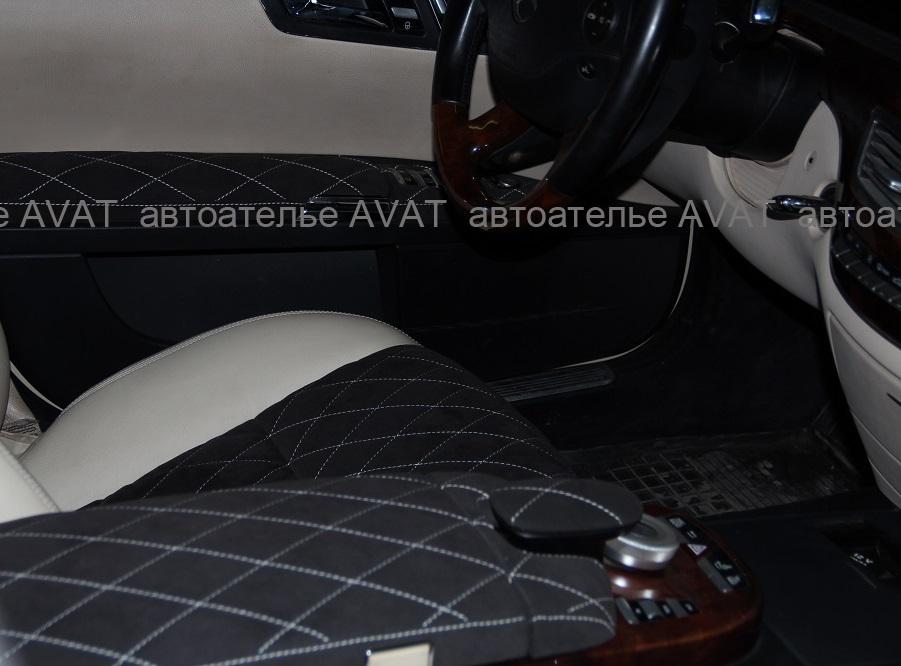 Перетяжка салона Mercedes W 221