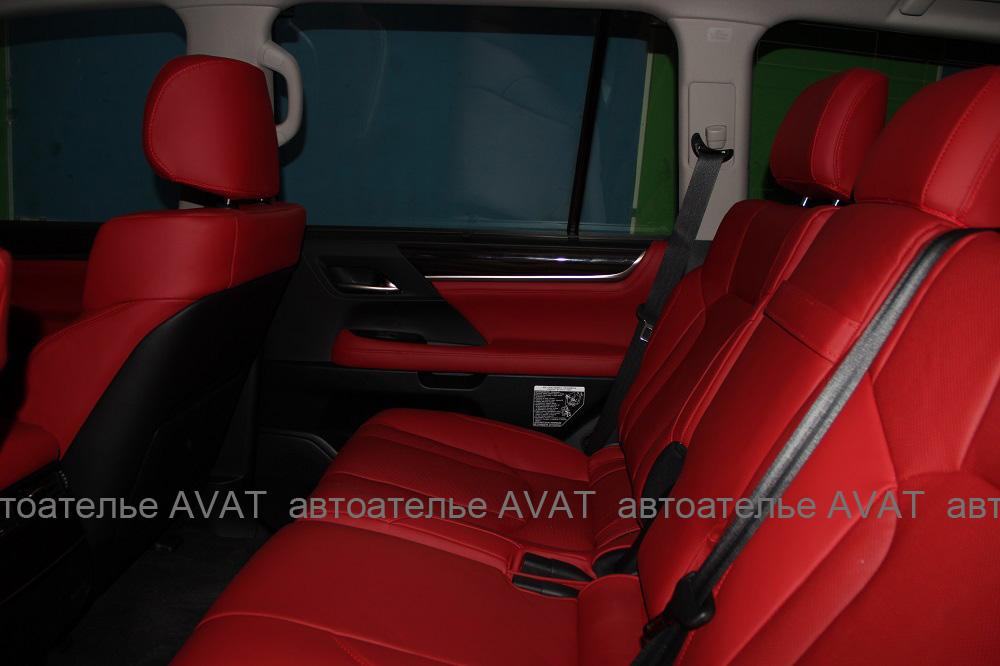 перетяжка сидений и дверей кожей наппа для Lexus