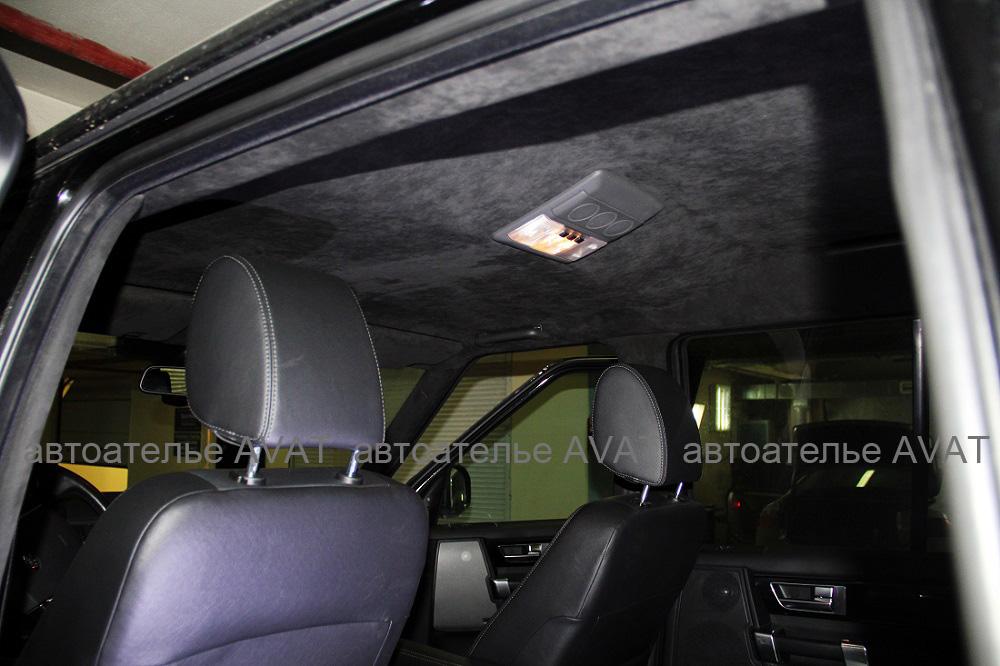 перетяжка потолка Land Rover discovery 3