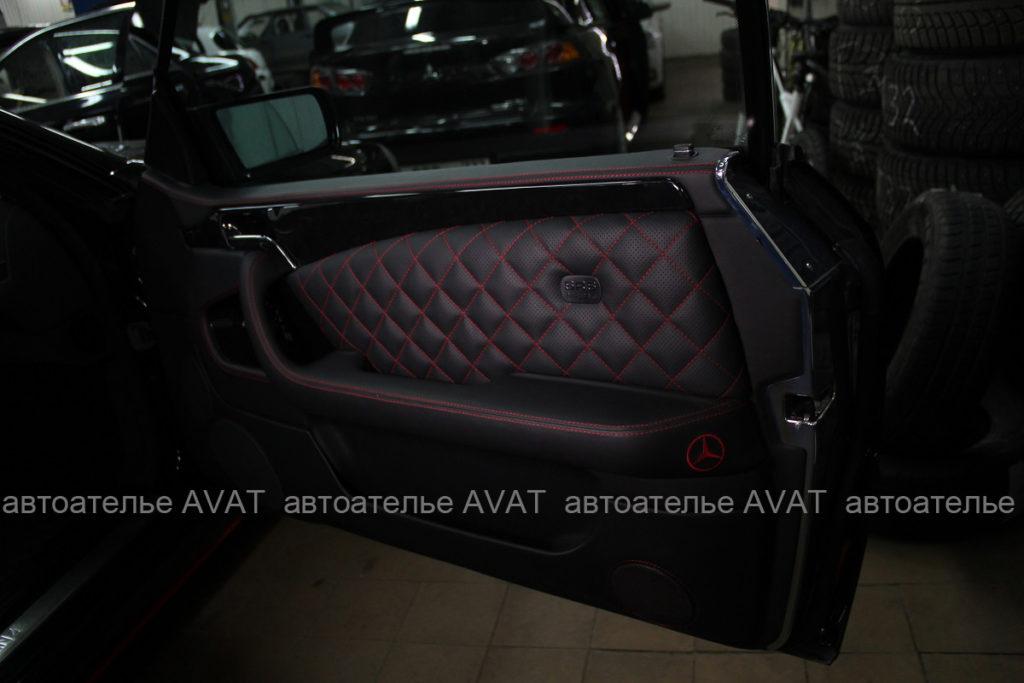 Перетяжка обшивок дверей Mercedes S-класса