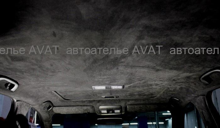 mazda cx5 перетяжка потолка алькантарой
