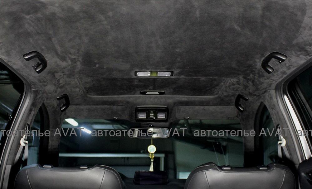 перетяжка потолка алькантарой на Mazda CX5