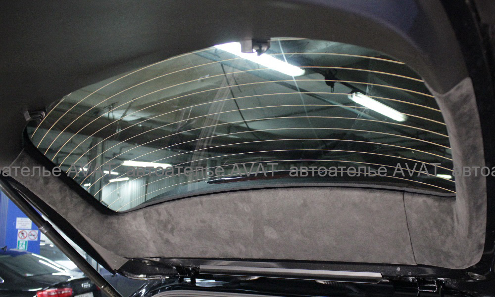 перетяжка алькантарой крышки багажника мазда