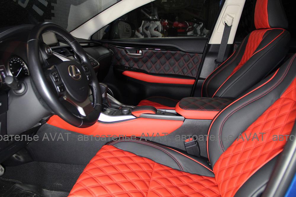 Перетяжка салона Lexus NX кожей nappa