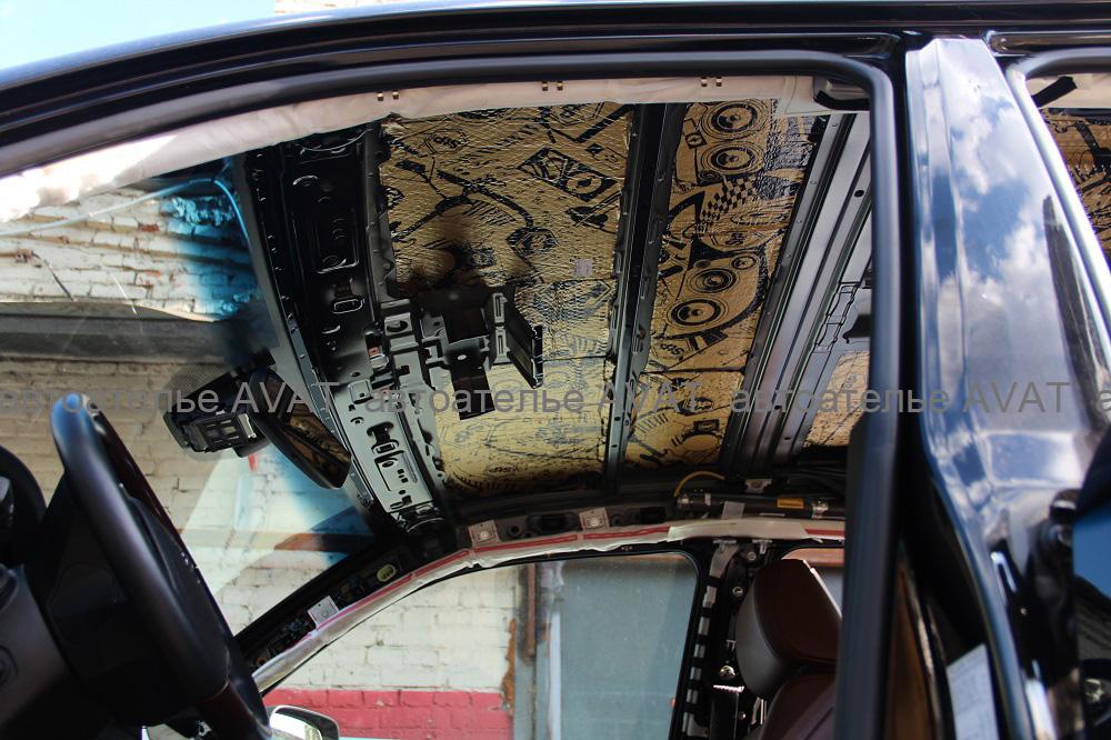 шумоизоляция потолка автомобиля тойота