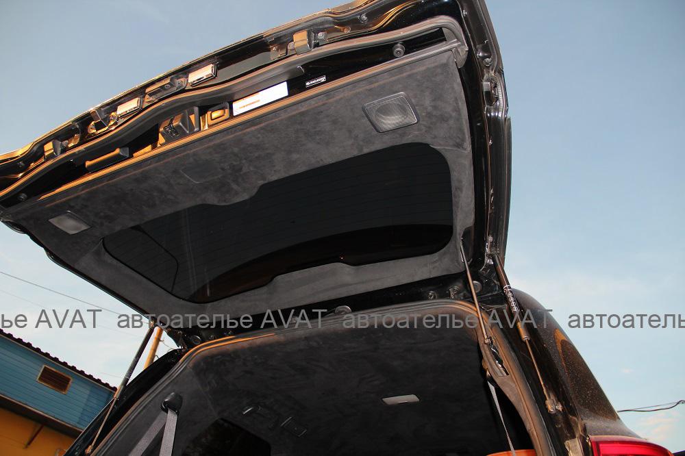 перетяжка алькантарой двери багажника крузер 200