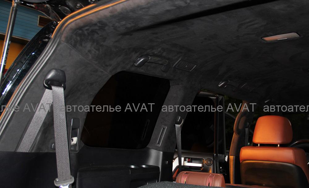 перетяжка стоек алькантарой Тойота ЛК200