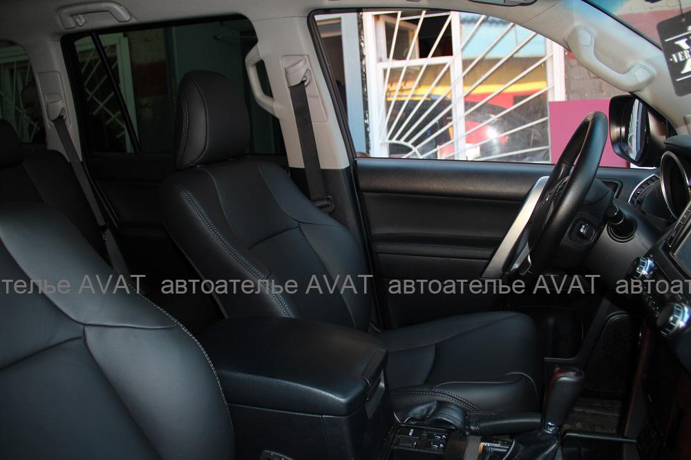 Перетяжка салона Toyota LC Prado кожей nappaПеретяжка салона Toyota Land Cruiser 150 кожей nappa