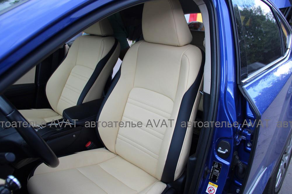 Фото перетяжка кожей сидений Lexus NX