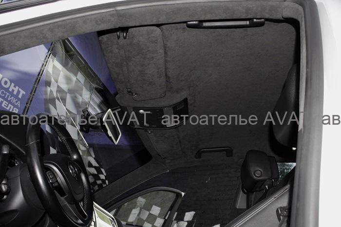 перетяжка потолка VW Tuareg алькантарой