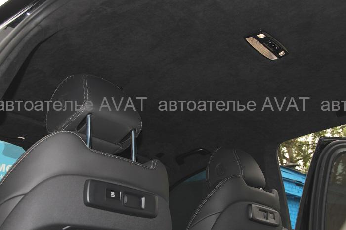 перетяжка потолка, стоек, динамикой (аналог алькантары) BMW X5 G05