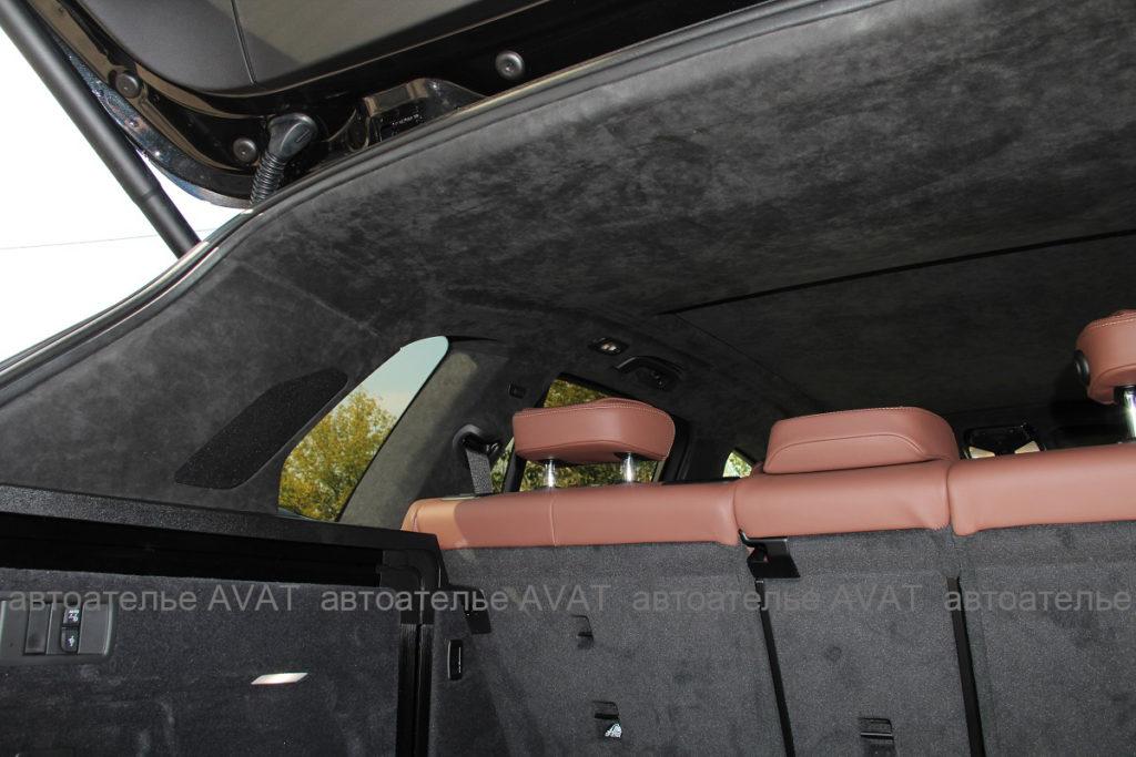 Фотоотчет комплексной перетяжки потолка с панорманой крышей наBMW X5 G05
