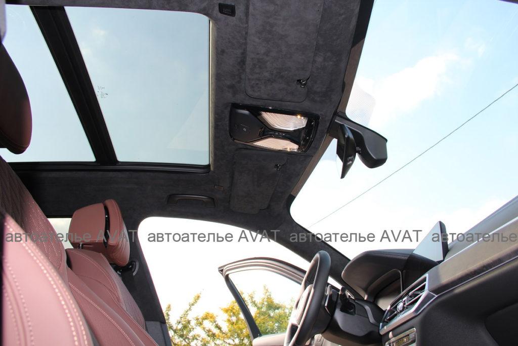 перетяжка потолка с панорамой BMW X5 G05