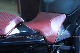 перетяжка сидушек мотоцикла