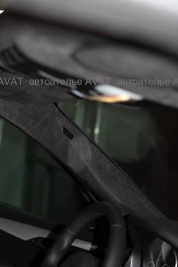оклейка потолка авто алькантаро