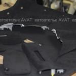 Перетяжка потолка алькантарой Subaru