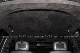 Перетяжка алькантарой потолка Volkswagen Touareg