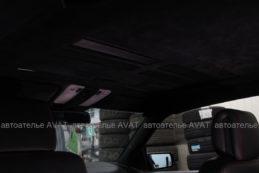 Потолок в алькантаре на Mercedes
