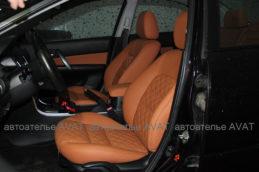 перетяжка сидений Mazda 6 кожей