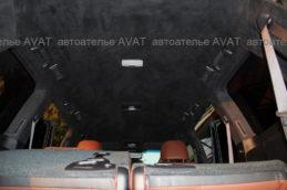 перетяжка алькантарой потолка Toyota LC200