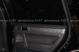 перетяжка натуральной кожей дверей авто
