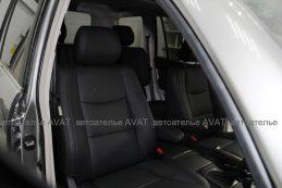 Фотоотчет перетяжка сидений Lexus GX кожей