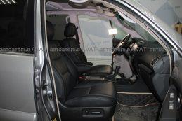 Фото по перетяжке салона Lexus GX натуральной кожей