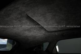 потолок и шторка панорамы Range Rover Velar в оригинальной алькантаре