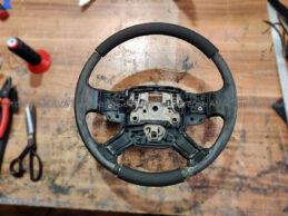 утолщение обода руля range rover vogue вспененной резиной